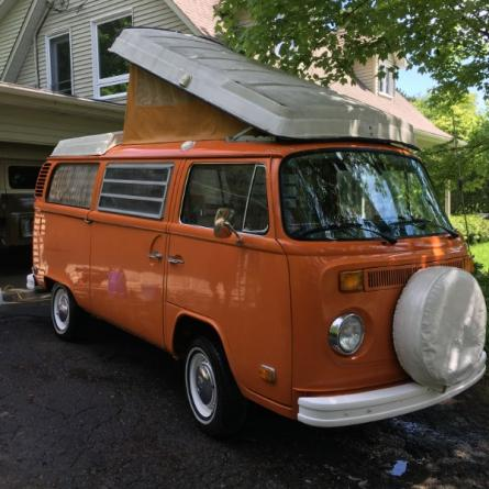 VOLKSWAGEN COMBI Orange (couleur d'origine 100%) Type 2 - Campmobile 70